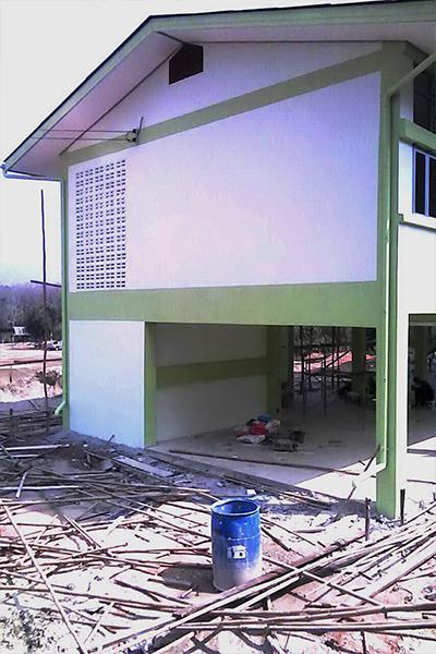 อาคารเรียนแบบ สปช.10529 ปรับปรุง 2 ชั้น 4 ห้อง โรงเรียนบ้านน้ำมวบ